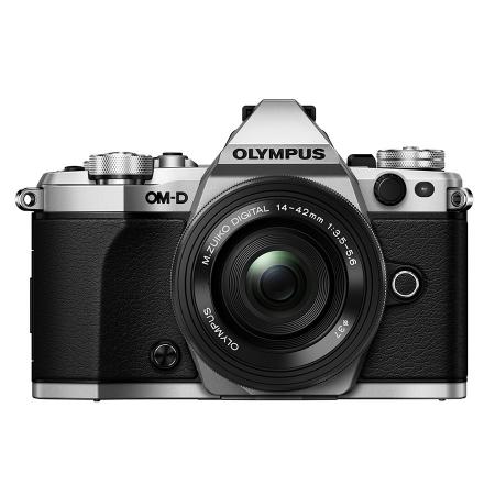 Olympus OM-D E-M5 Mark II argintiu + 14-42 EZ pancake negru 0