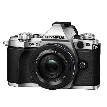 Olympus OM-D E-M5 Mark II argintiu + 14-42 EZ pancake negru 1