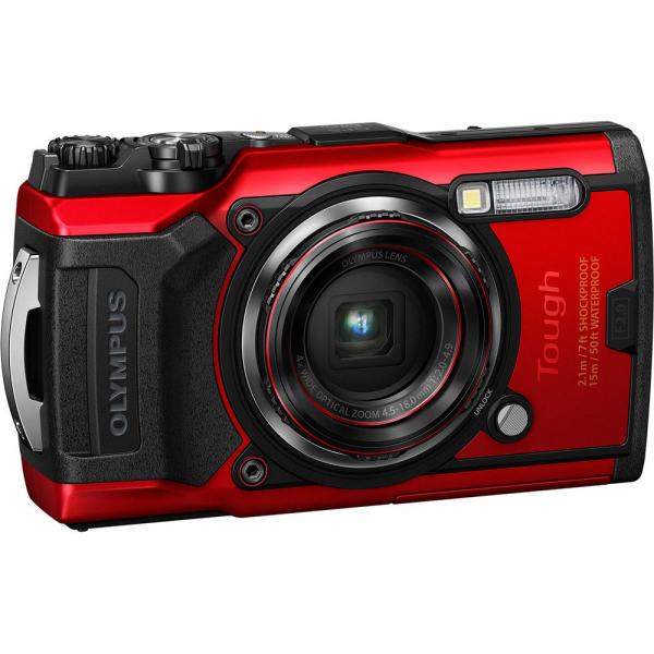 Olympus TG-6 rosu - aparat foto compact subacvatic 0
