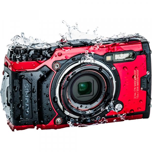 Olympus TG-6 rosu - aparat foto compact subacvatic 1