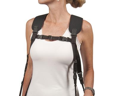 """OP/TECH Dual Harness 3/8"""" Regular black - Ham pentru doua aparate 1"""