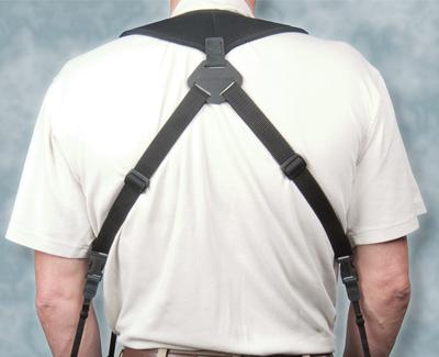 """OP/TECH Dual Harness 3/8"""" Regular black - Ham pentru doua aparate 2"""