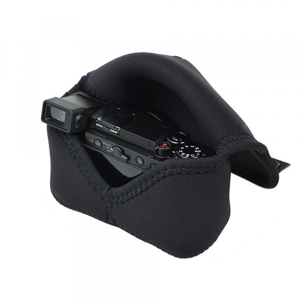 OP/TECH Soft Pouch™ - Body Cover Midsize Black- husa neopren neagra 4