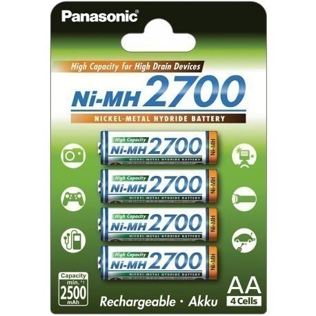 Panasonic - acumulatori R6 AA 2700mAh set 4 bucati [0]