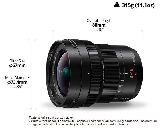 Panasonic Leica DG Vario-Elmarit 8-18mm f/2.8-4 ASPH - montura m4/3 ( MFT) [3]