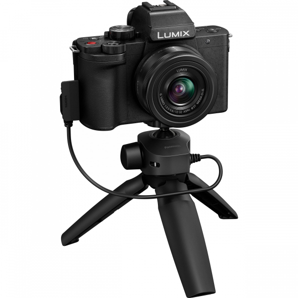 Panasonic Lumix DC-G100V kit G VARIO 12-32 mm f/3.5-5.6 ASPH. MEGA O.I.S. + mini trepied-maner DMW-SHGR1 4