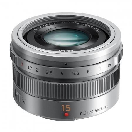 Panasonic Lumix G Leica DG Summilux 15mm f/1.7 ASPH argintiu - montura m4/3 (MFT) 0