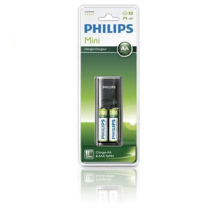 Philips incarcator cu 2 acumulatori reincarcabili 2100mAh 0