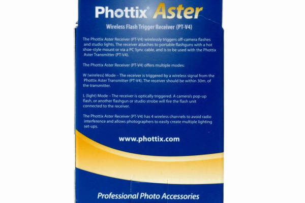 Phottix Aster PT-V4 receptor  radio si optic 8