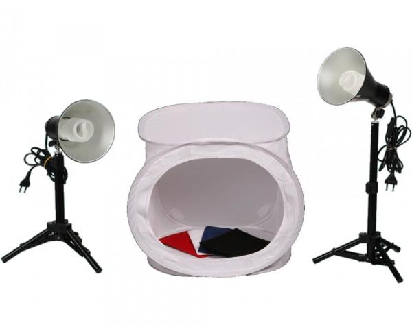 Phottix cort fotografie de produs sau macro 40cm  x  40 cm x 40cm + 2 x Lampa Fluorescenta cu lumina continua 0