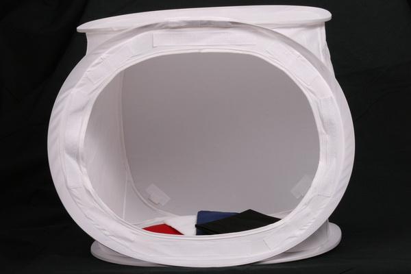 Phottix cort fotografie de produs sau macro 40cm  x  40 cm x 40cm + 2 x Lampa Fluorescenta cu lumina continua 3