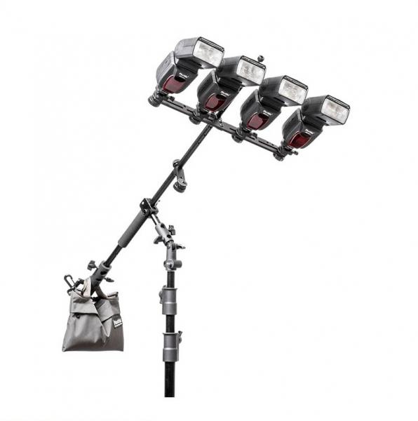 "Phottix Multi Boom 28"" (71cm)  Flash Bracket + Varos BG - Kit suport pentru 4 blitz-uri [1]"