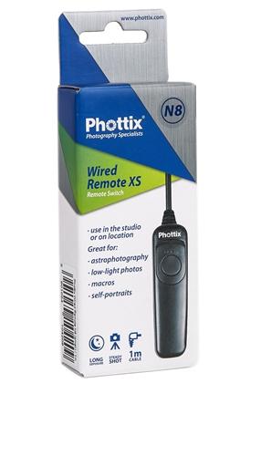 Phottix N8 , telecomanda pe fir de 1m pt Nikon D4, D3 x-s, D800, D800E, D700, D300 s, D810, D850 0