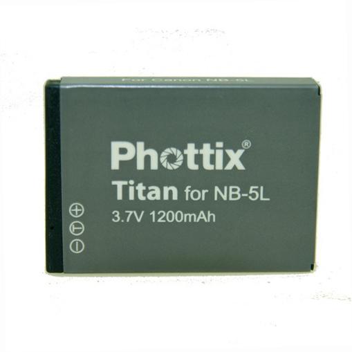 Phottix NB-5L pentru Canon Ixus, Ixy, Powershot (1100mAh) 0