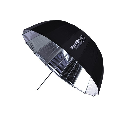 Phottix Premio - umbrela reflexie 85cm Silver/Black + diffuser 0