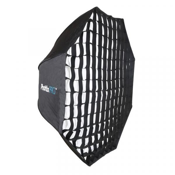 Phottix Pro Extra Large Octa Easy-Up HD Umbrella tip Softbox 120cm 0