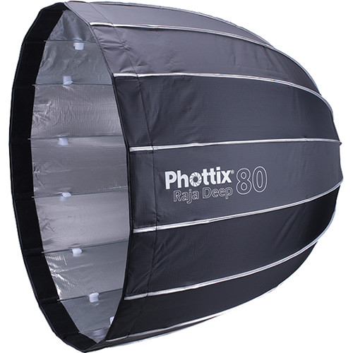 Phottix Raja Deep Quick-Folding Softbox parabolic 80cm + grid + montura Bowens 0