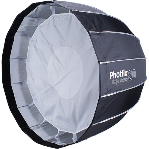 Phottix Raja Deep Quick-Folding Softbox parabolic 80cm + grid + montura Bowens 1