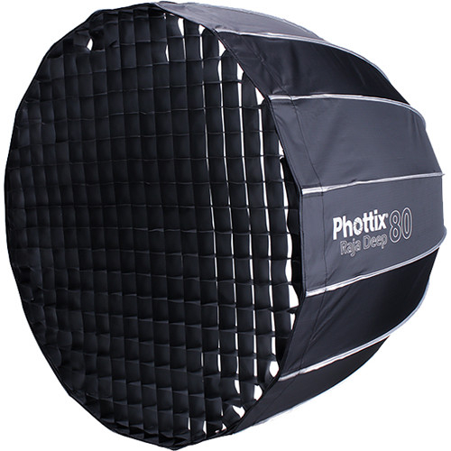 Phottix Raja Deep Quick-Folding Softbox parabolic 80cm + grid + montura Bowens 3
