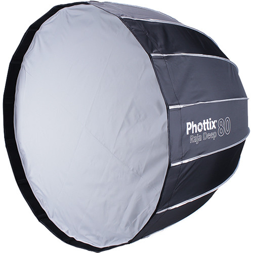 Phottix Raja Deep Quick-Folding Softbox parabolic 80cm + grid + montura Bowens 2