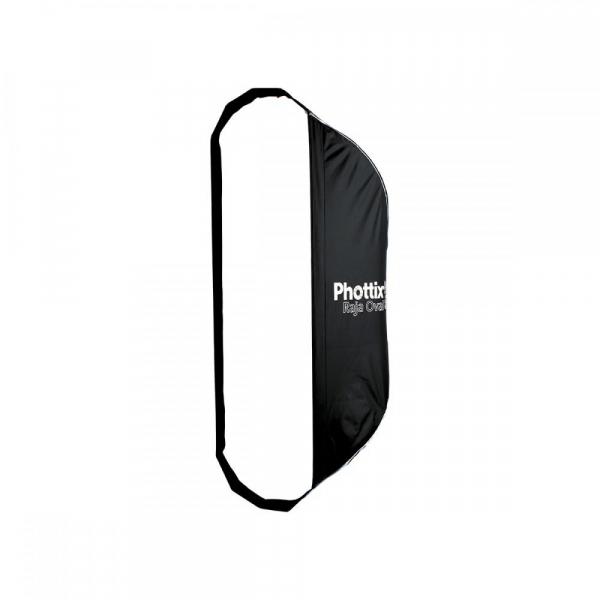 Phottix Raja Oval Quick-Folding softbox 50x120cm + grid + montura Bowens 0