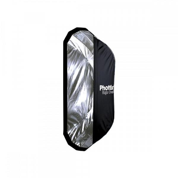 Phottix Raja Oval Quick-Folding softbox 50x120cm + grid + montura Bowens 2