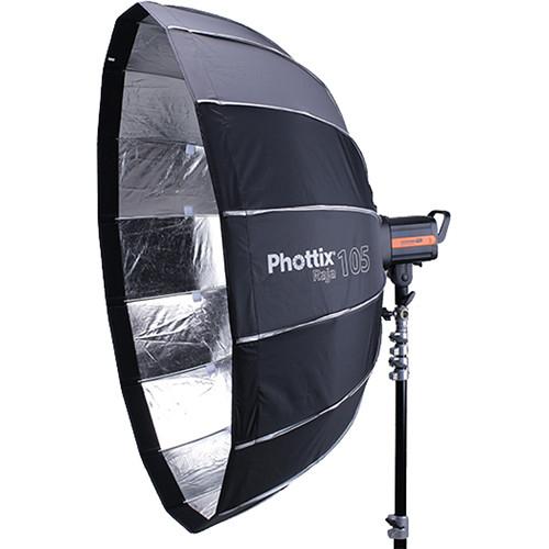 Phottix Raja Quick-Folding Softbox parabolic 105cm + grid + montura Bowens 0