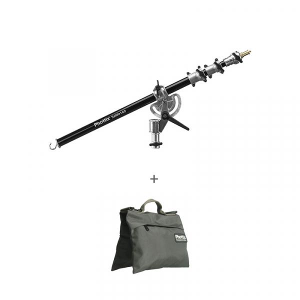Phottix Saldo 160 + saculet contragreutate M - brat boom pentru stativ 160cm 0