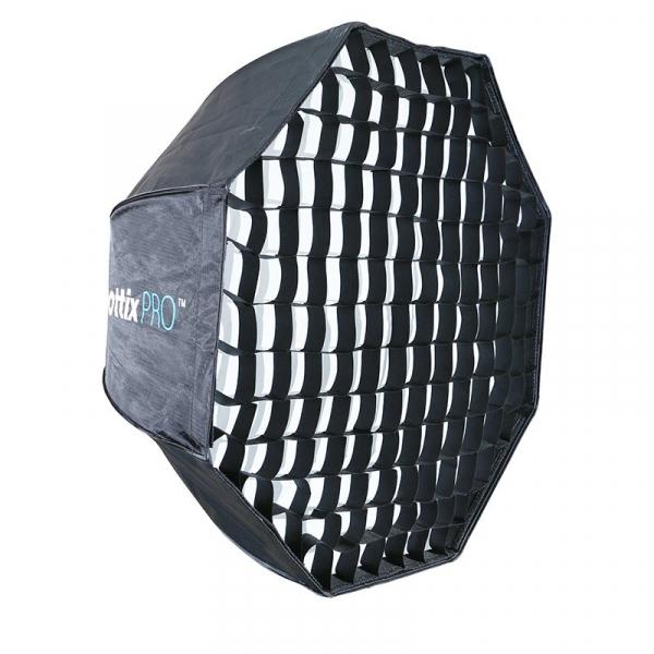 Phottix softbox octogonal tip umbrela Pro Easy-up HD 80cm  cu grid - pentru blitz extern [0]