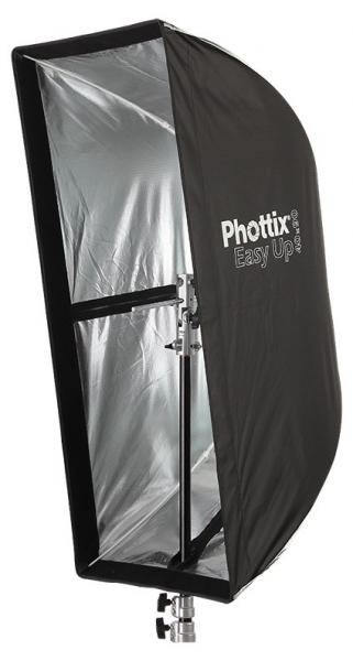 Phottix Softbox portabil, tip umbrela 40cm x 90cm + GRID ,  pentru blitz extern cu patina 2