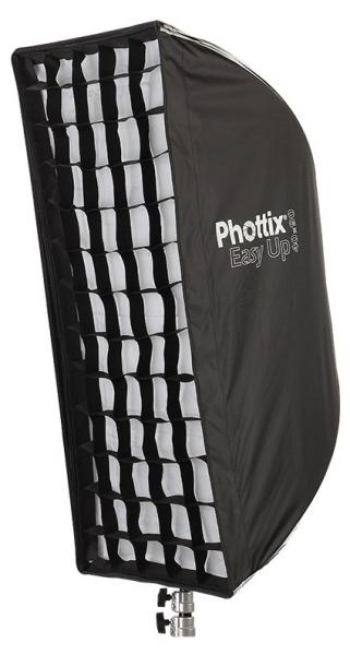 Phottix Softbox portabil, tip umbrela 40cm x 90cm + GRID ,  pentru blitz extern cu patina 0