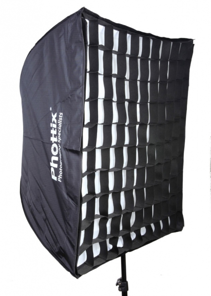 Phottix softbox portabil, tip umbrela 60cm x 90cm + GRID ,  pentru blitz extern cu patina [1]