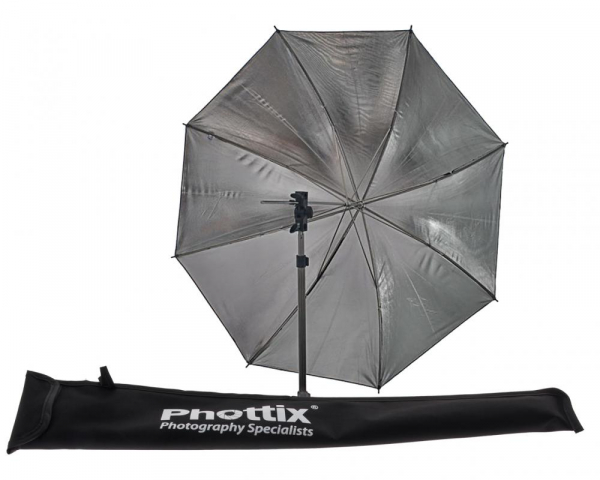 Phottix umbrela reflexie 84 cm (argintiu interior - negru exterior) [0]