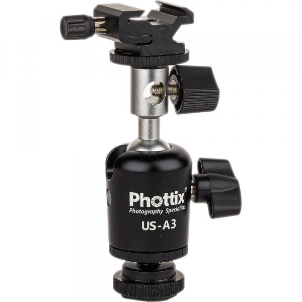 Phottix US-A3 - adaptor pentru patina de blitz  cu suport de umbrela  [0]