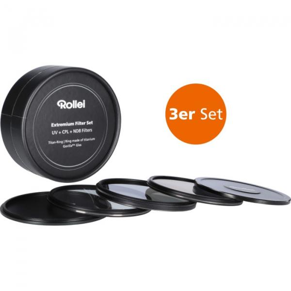 Rollei 62mm Set 3 Filtre (UV / CPL / ND8) Extremium 0