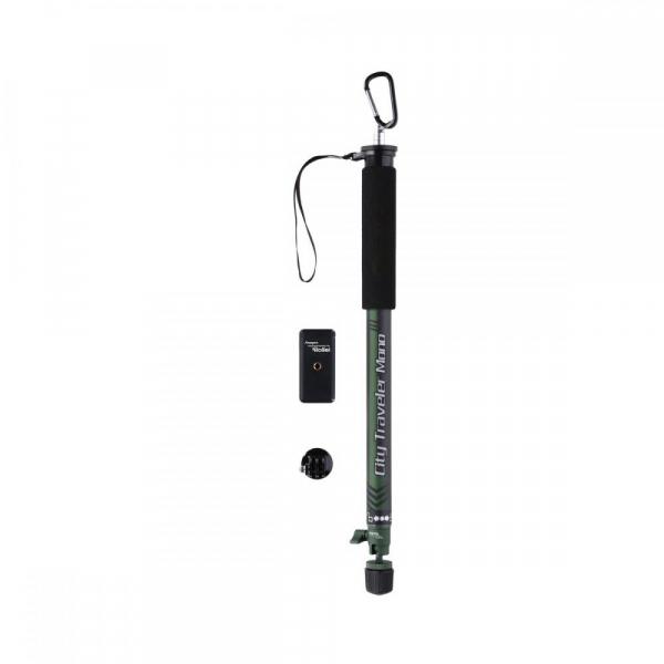 Rollei City Traveler Mono -monopied din carbon -negru/ verde 1