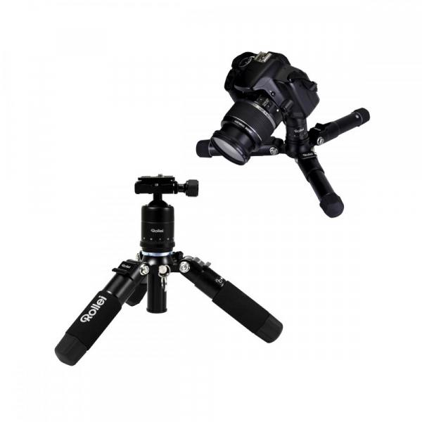 Rollei Compact Traveler Mini M-1 - kit  mini trepied + cap cu bila , negru 1