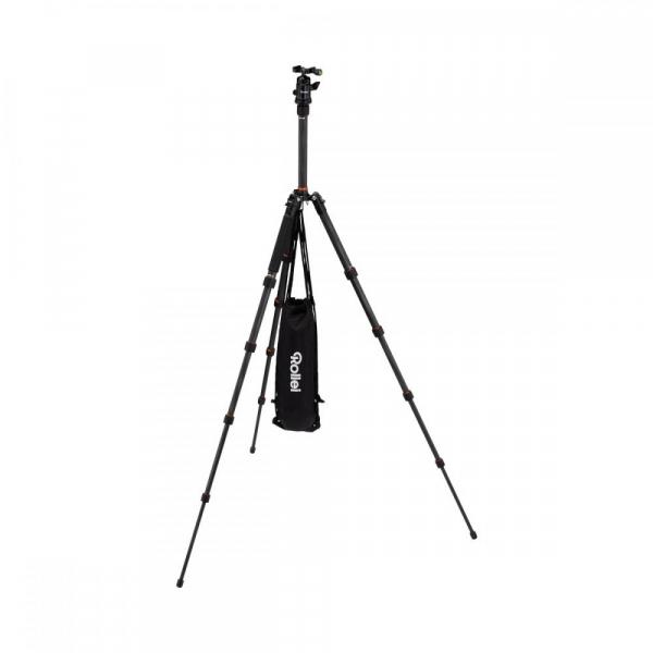 Rollei Compact Traveler No. 1 Carbon -  kit trepied + cap cu bila , negru [10]