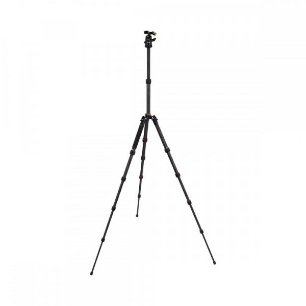 Rollei Compact Traveler No. 1 Carbon -  kit trepied + cap cu bila , negru [3]