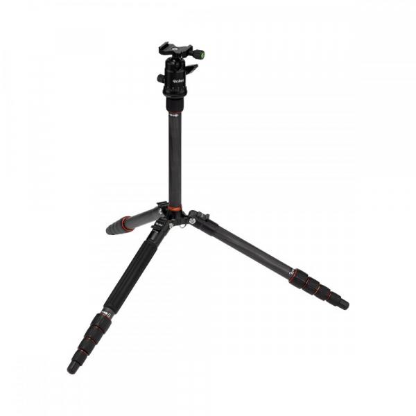 Rollei Compact Traveler No. 1 Carbon -  kit trepied + cap cu bila , negru [4]