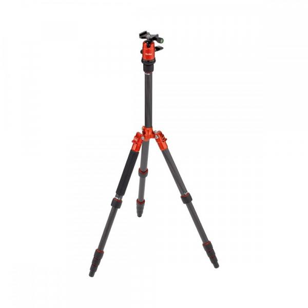 Rollei Compact Traveler No. 1 Carbon - kit trepied + cap cu bila , portocaliu / negru [2]