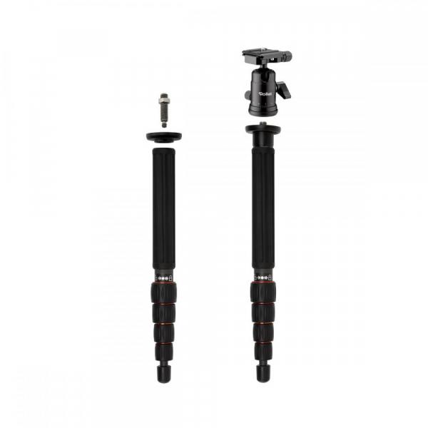 Rollei Compact Traveler No. 1 Carbon - kit trepied + cap cu bila , portocaliu / negru 6