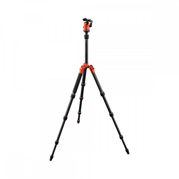 Rollei Compact Traveler No. 1 Carbon - kit trepied + cap cu bila , portocaliu / negru 0