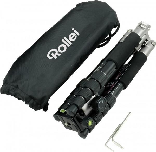 Rollei Compact Traveler No.1 - kit trepied + cap cu bila , negru / argintiu 1
