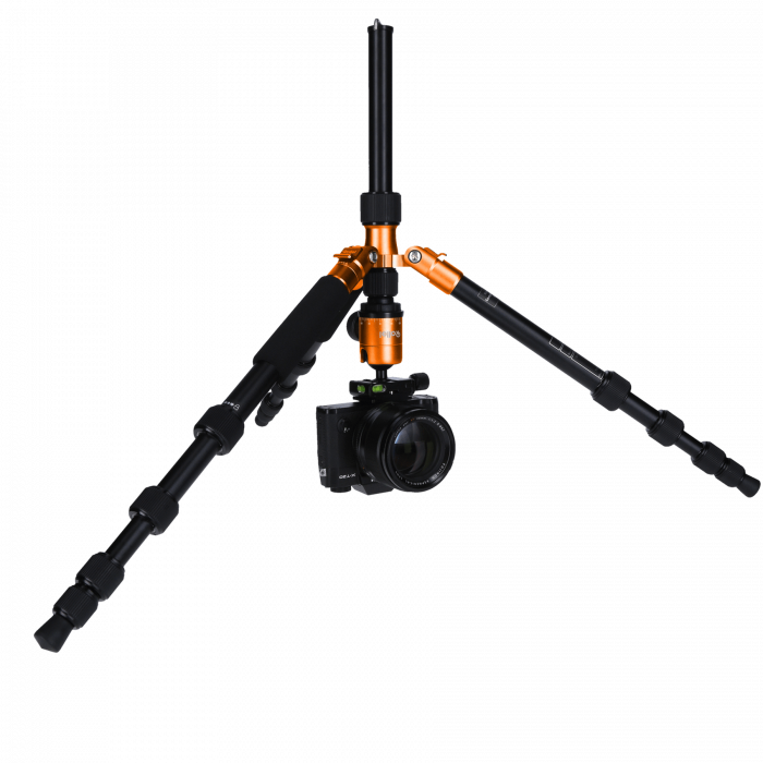 Rollei Compact Traveler No.1 - kit trepied + cap cu bila , negru / portocaliu [4]
