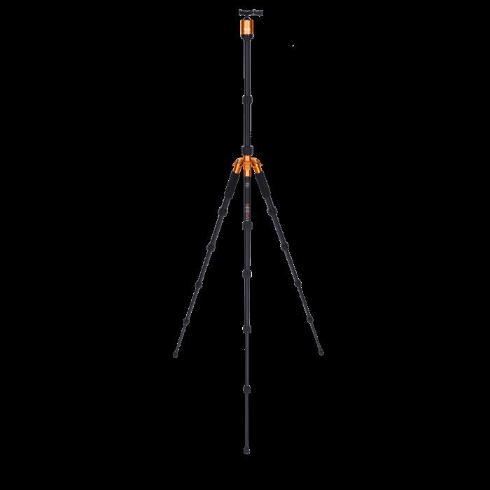 Rollei Compact Traveler No.1 - kit trepied + cap cu bila , negru / portocaliu [1]