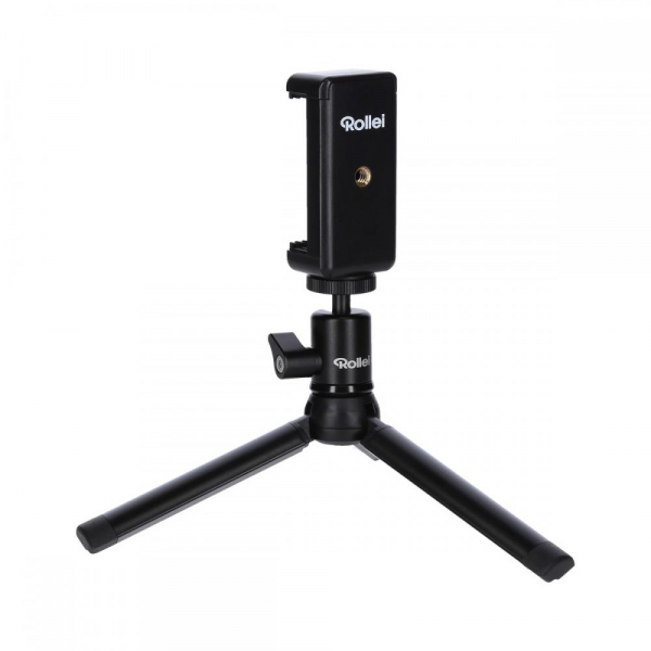 Rollei Smart Photo Selfie Stick cu suport de telefon si mini trepied ,  portocaliu/negru 5