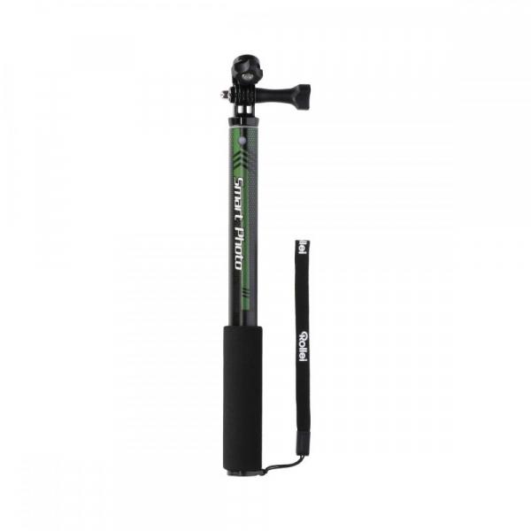 Rollei Smart Photo Selfie Stick cu suport de telefon si mini trepied , verde/negru 2
