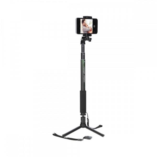 Rollei Smart Photo Selfie Stick cu suport de telefon si mini trepied , verde/negru 0