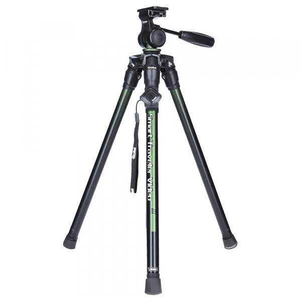 Rollei Smart Traveler Video - kit trepied + cap cu maneta , negru  / verde 0